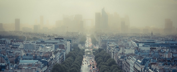 A polluted city