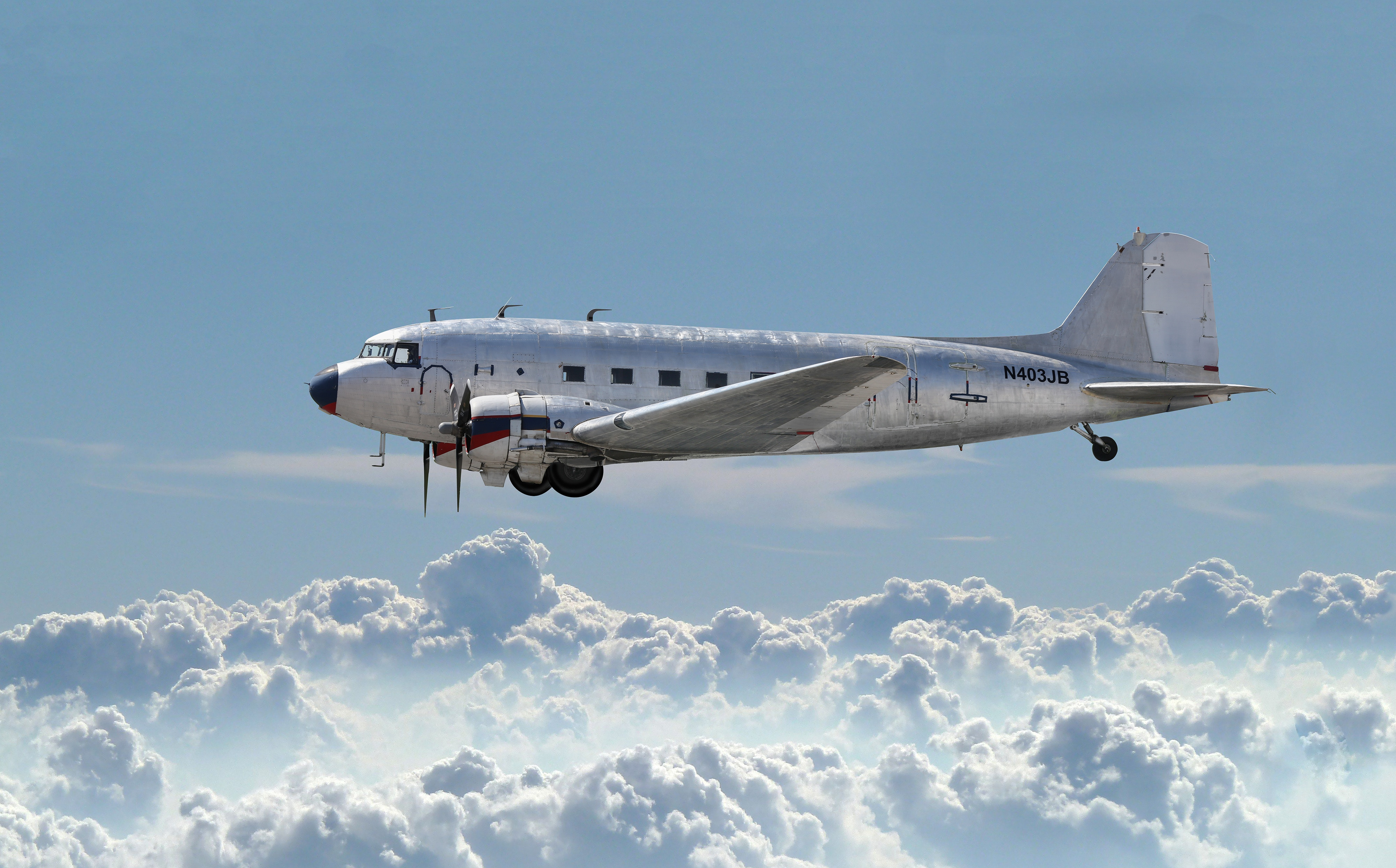 And aircraft in flight