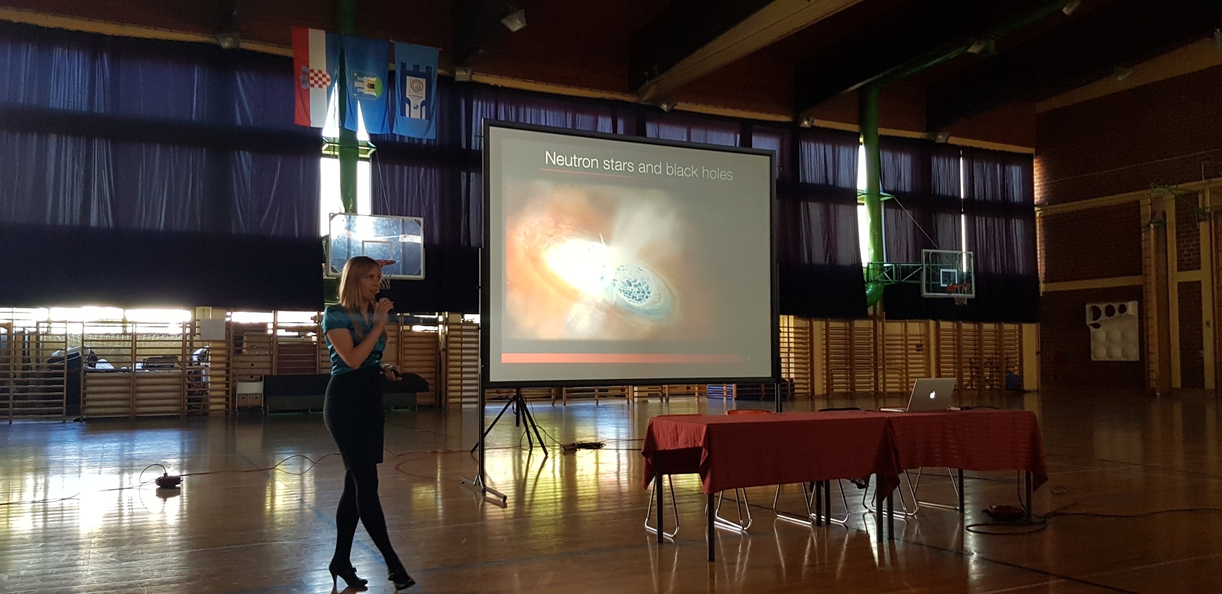 Jacinta Delhaize at MIOC high school Croatia