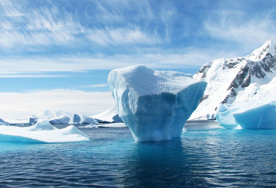 An iceberg in the polar sea