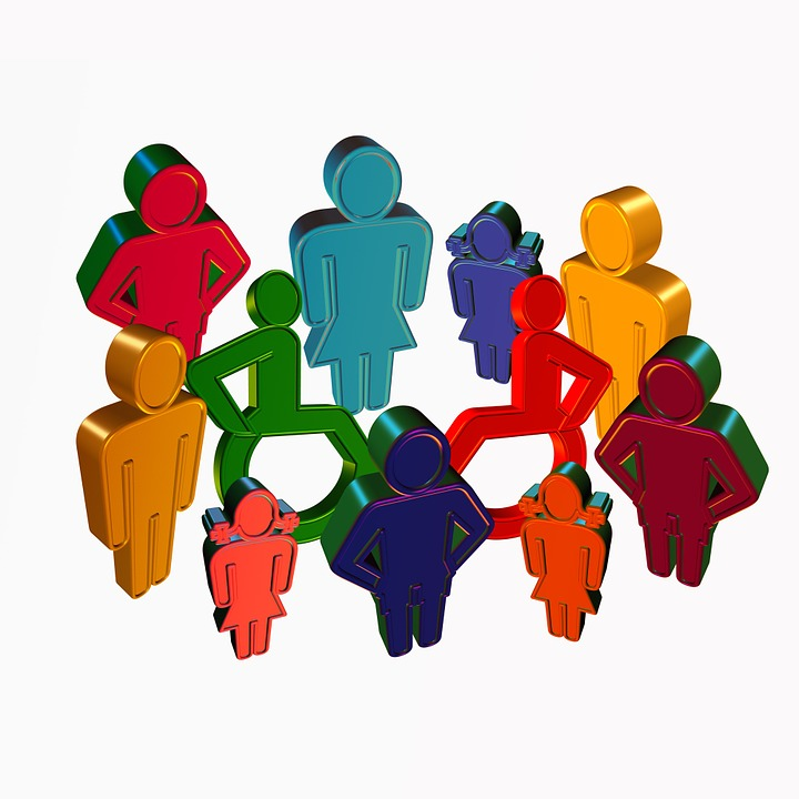 Inclusive group of people