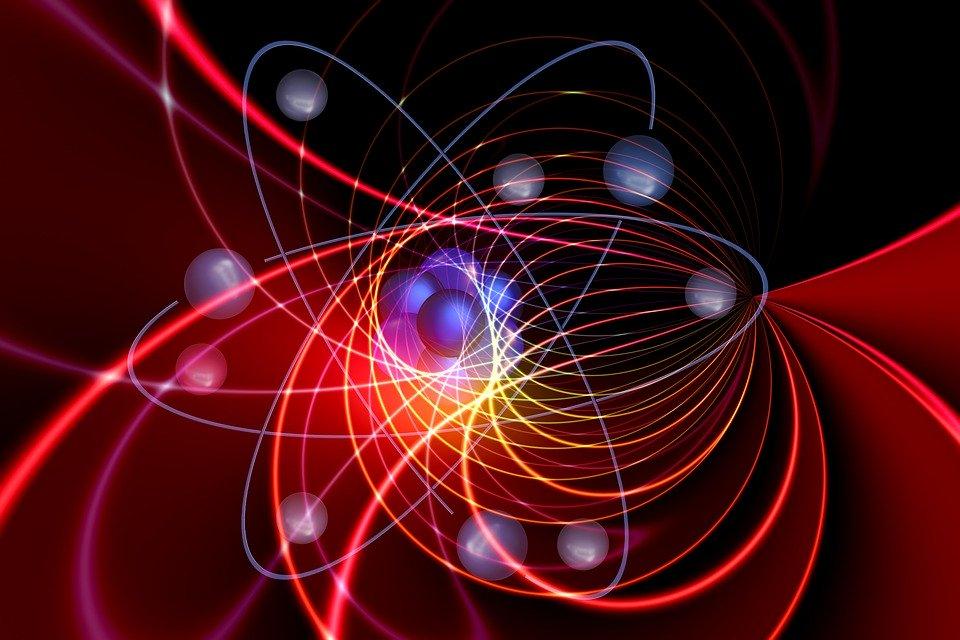 Abstract art of an atom