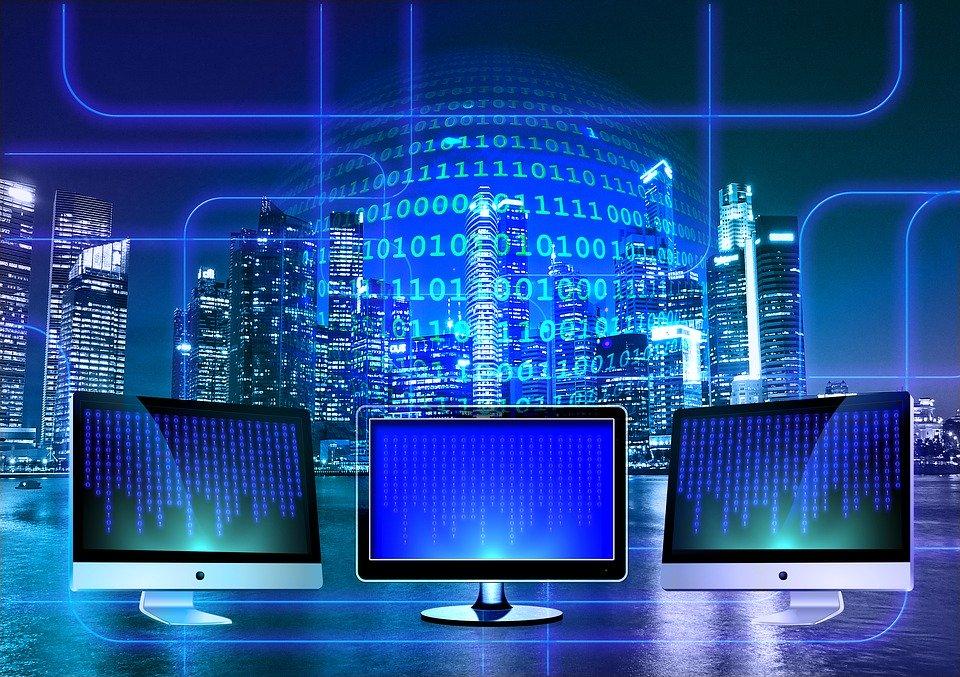 computer screens and bits