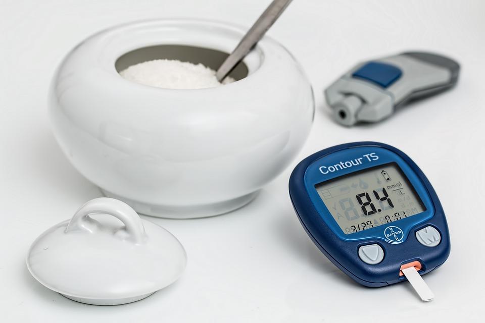 Pot of sugar and blood sugar device