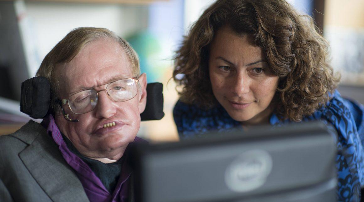 Intel's Lama Nachman works with Stephen Hawking on his speech system