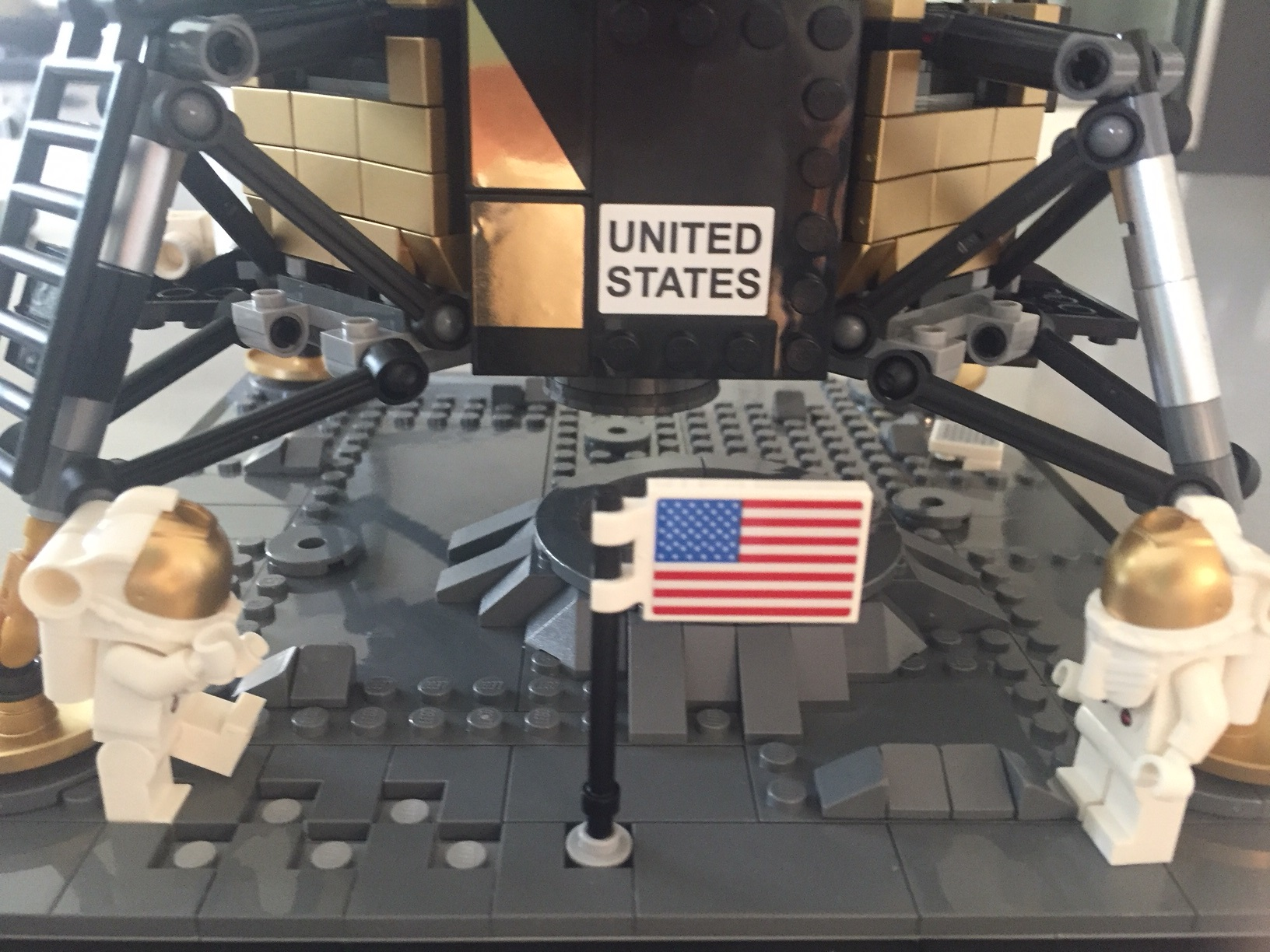 Two Lego figures of the moon landing