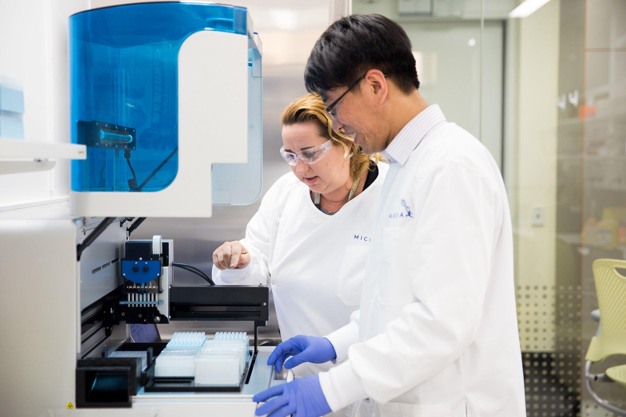 Microba laboratory staff