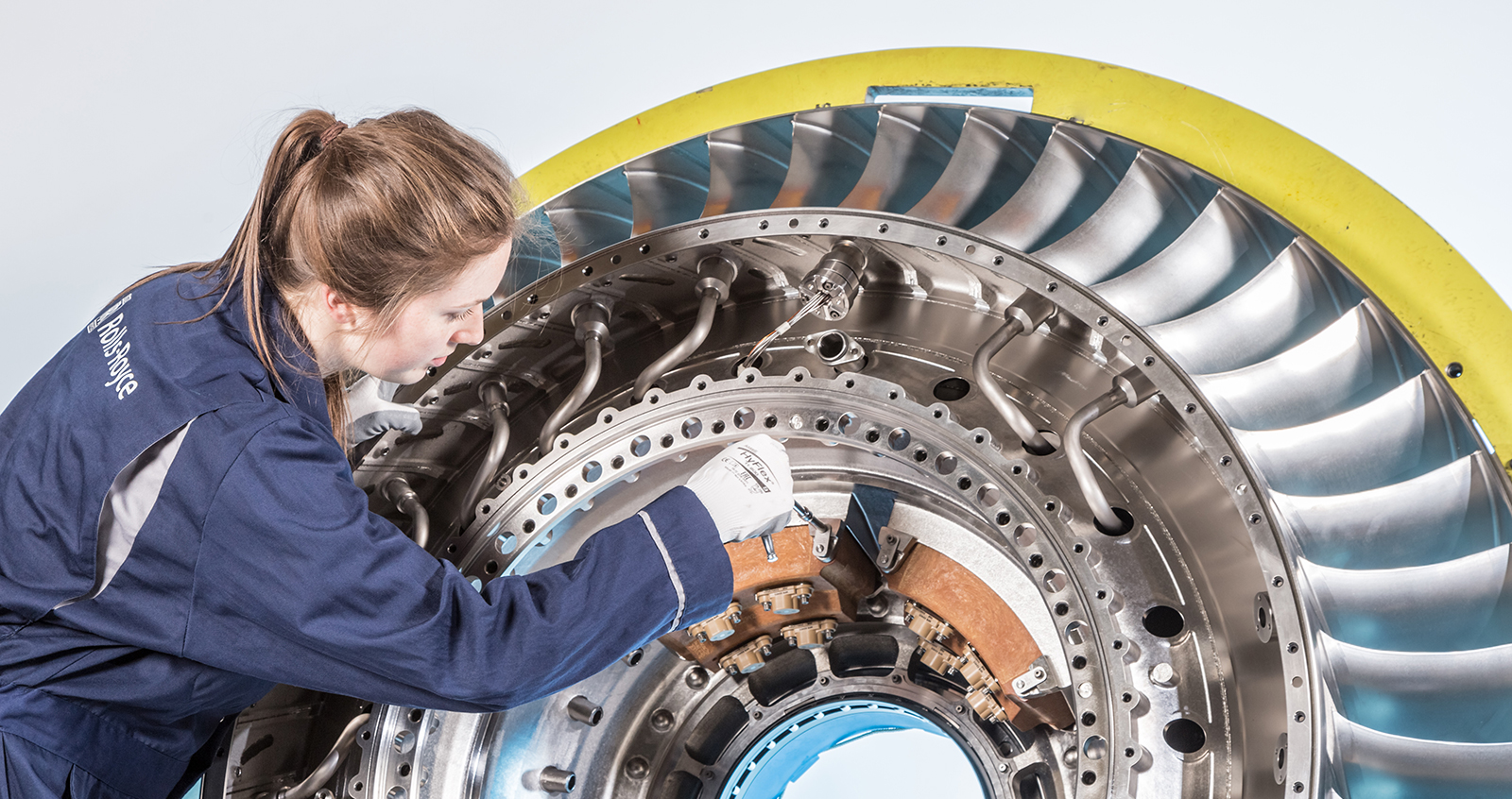 Rolls-Royce engine front bearing housing produced by 3-d printing: it's the largest aero engine structure to fly, incorporating ALM components, in the world to-date.