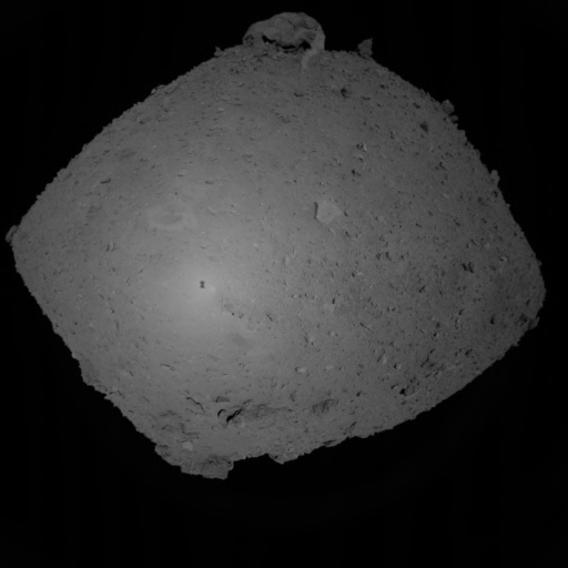 An image taken of Ryugu by Hayabusa2's ONC-W1 camera
