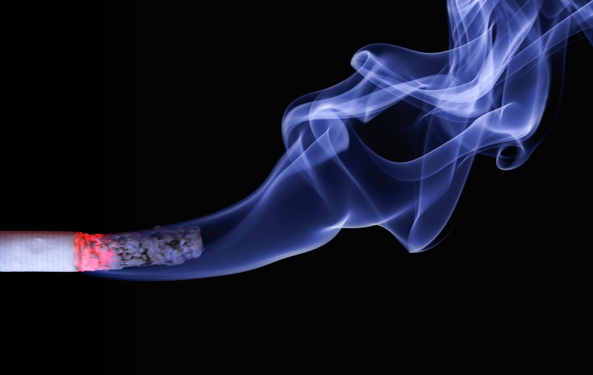 this is a picture of a smoking cigarette