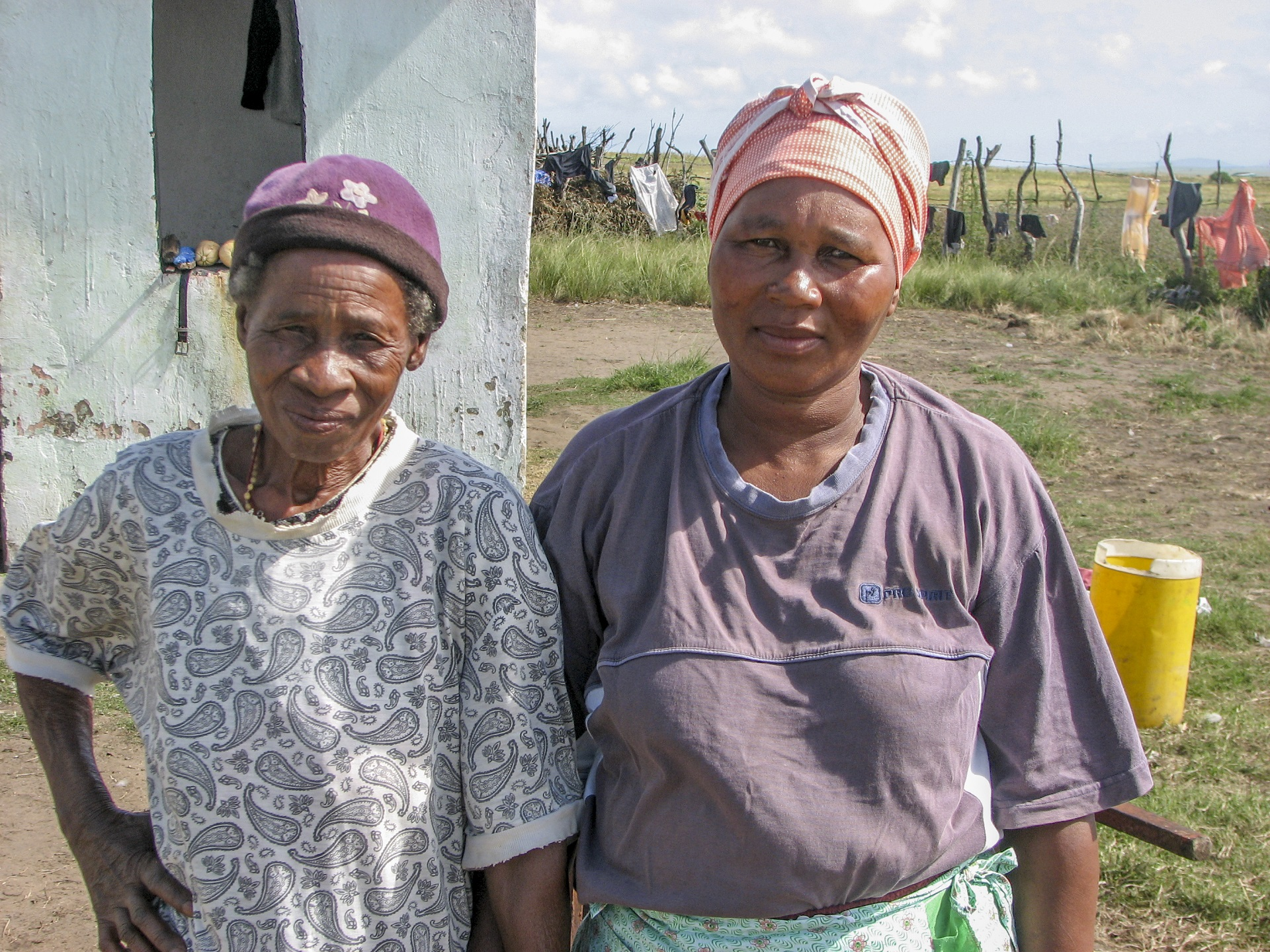 Velani Dukuza and her mother of the amaFrance clan in Pondoland