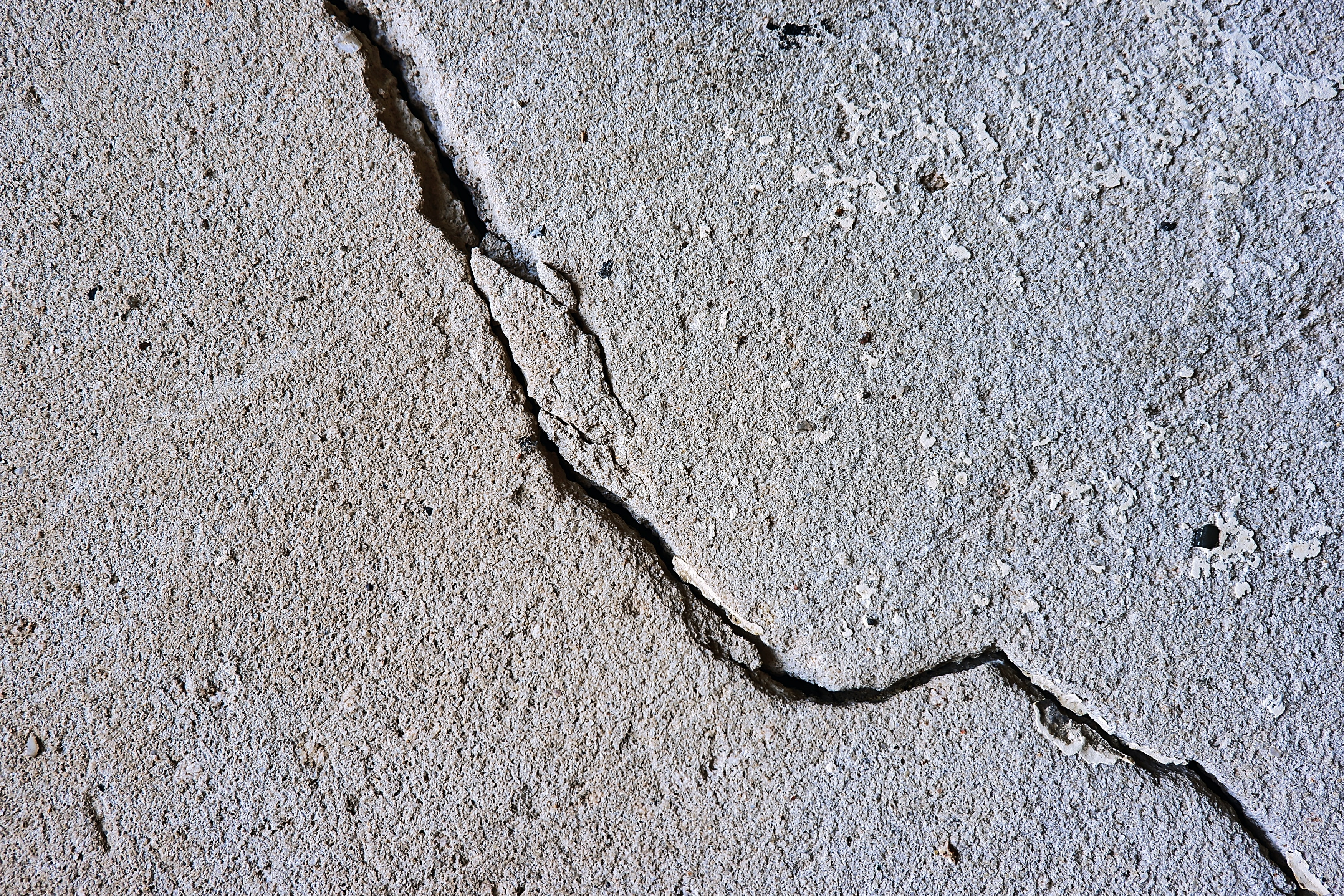Crack in earth