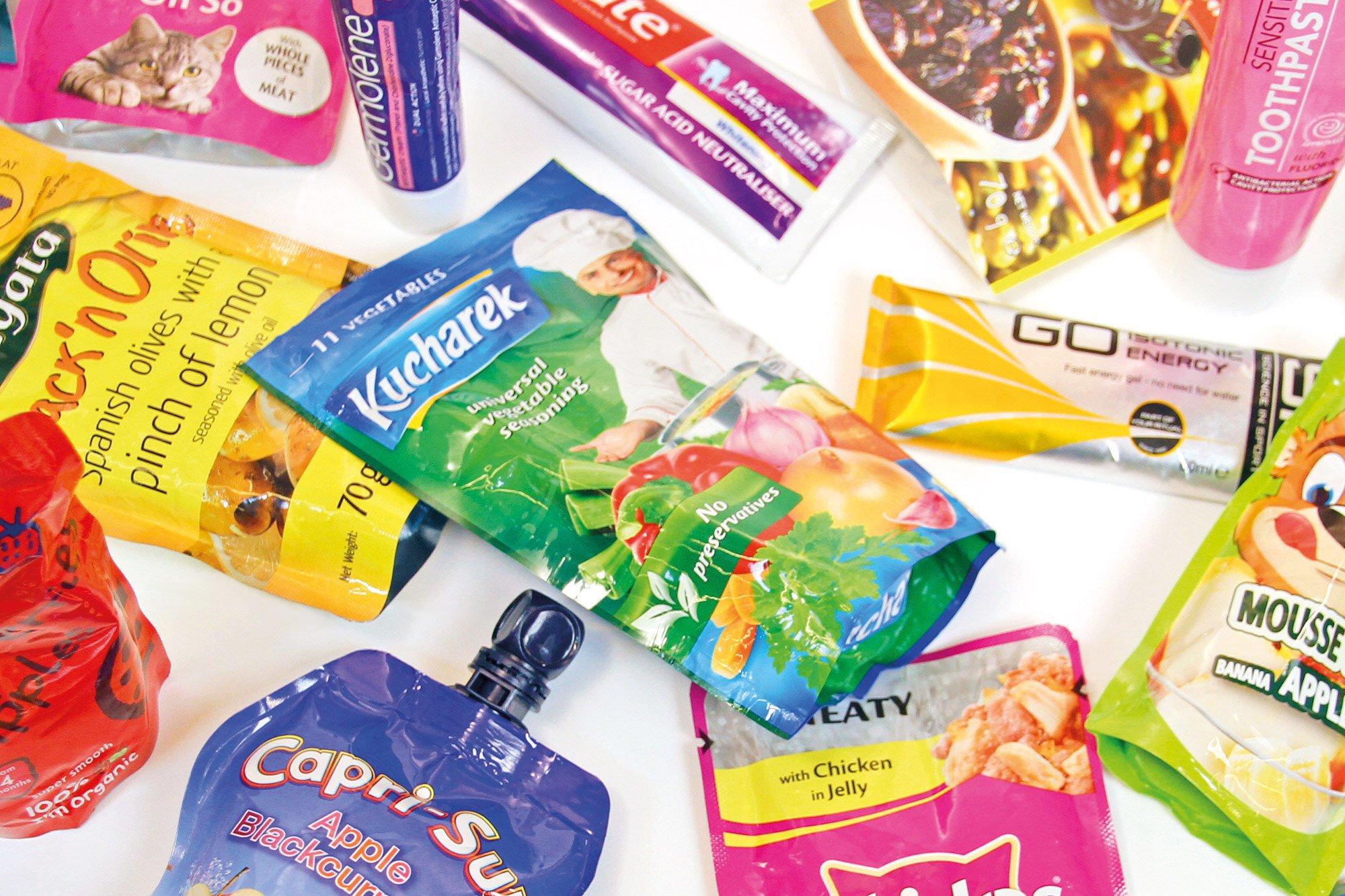 Plastic aluminium laminate packaging.