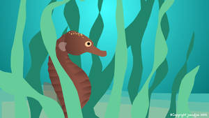 Seahorse animation from Jo and Joe cards
