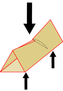 Triangular tube failing
