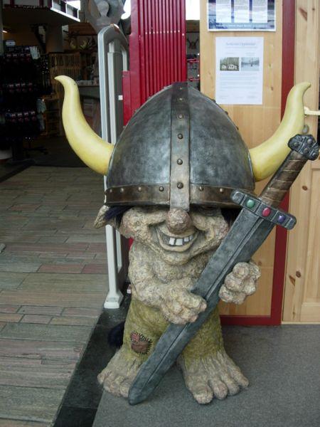 A Viking troll in a souvenir shop in Norway