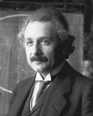 Albert Einstein during a lecture in Vienna in 1921 (age 42).