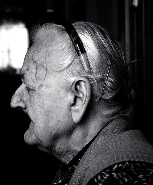 The effects of old age on the human face. Portrait of Elisabetha Drum of Kittsee, Austria. Created by Michael Ströck