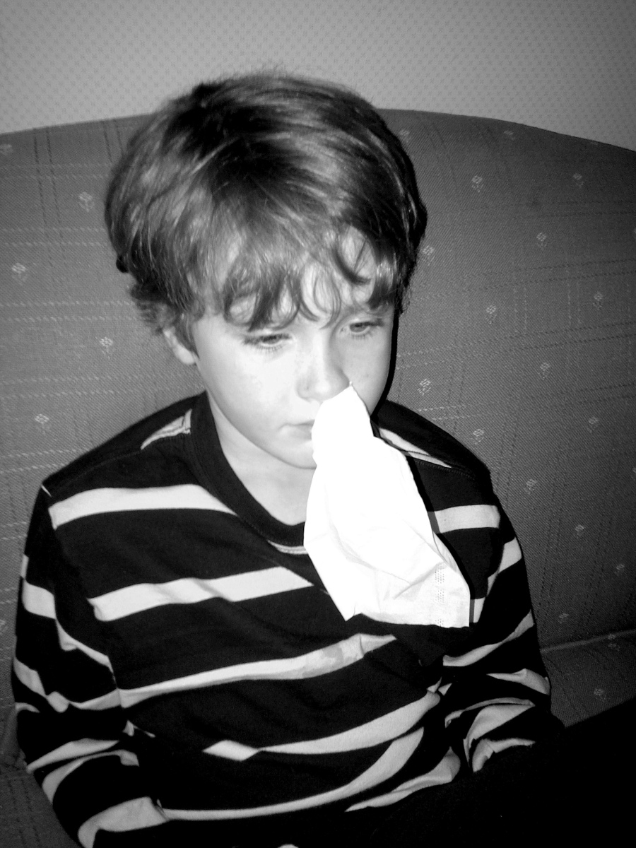 Boy with cold