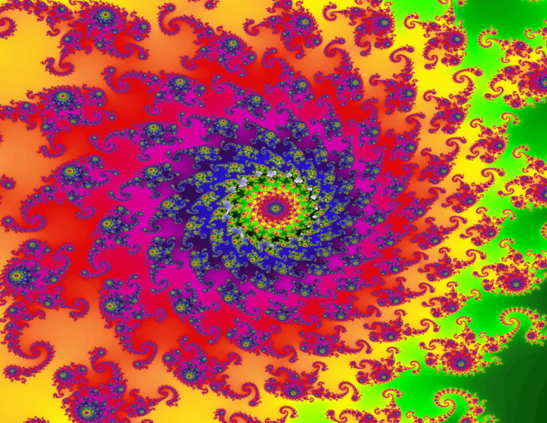 A fractal image, often used to represent hallucinations