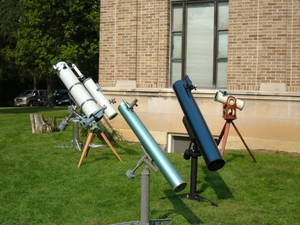 A group of Newtonian telescopes at Perkins Observatory, Delaware, Ohio.