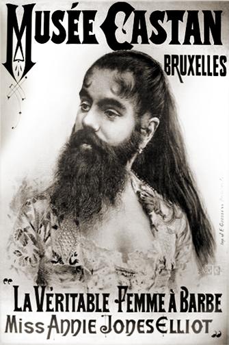 anne jones bearded lady poster