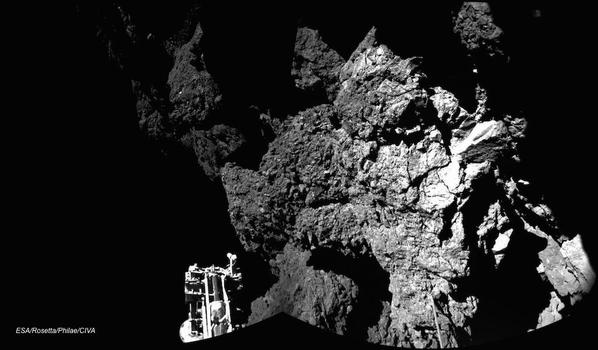 An image sent back to earth from the Philae lander.