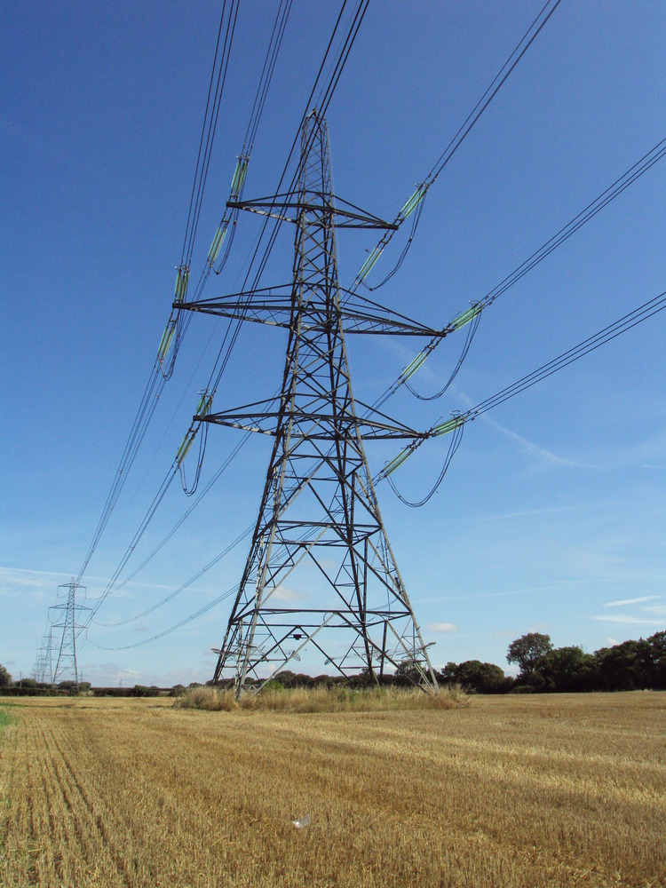 A 400kV pylon part of the UK National Grid