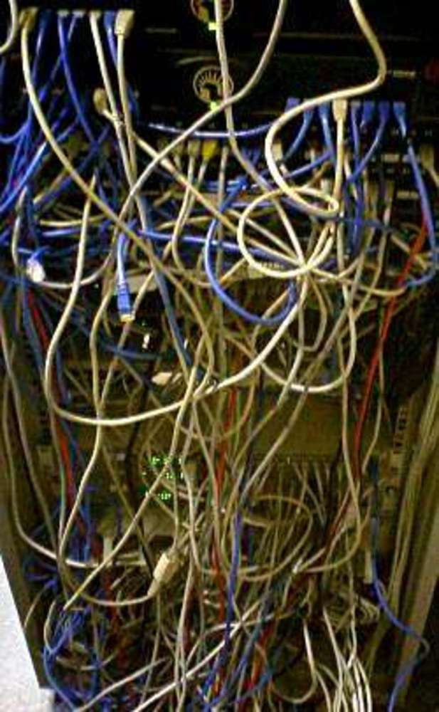 Cable spaghetti or cable salad