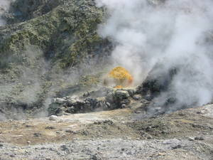 Sulphur at the Solfatara crater, Campi Flegrei