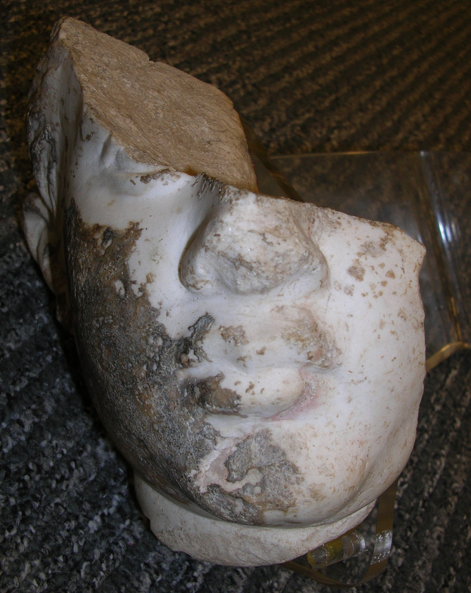 The adolescent face of Nero, found at Fishbourne palace in Southern Britain