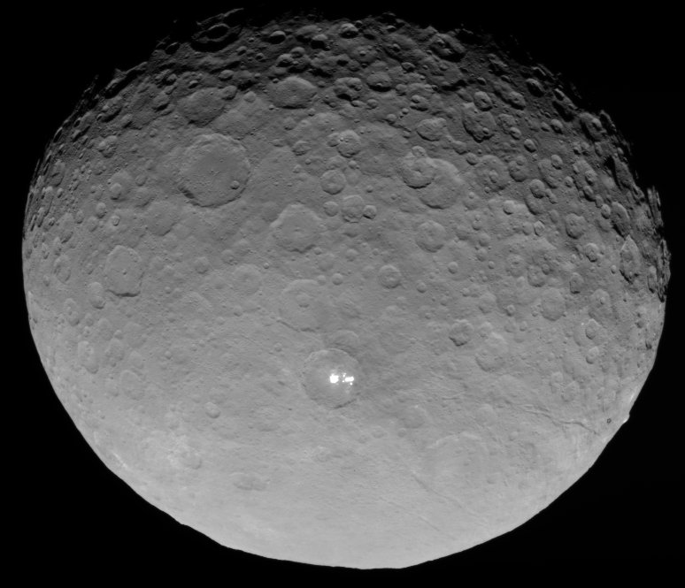 Ceres photographed by Dawn