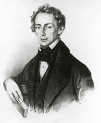 Portrait of Christian Andreas Doppler, the physicist and mathematician
