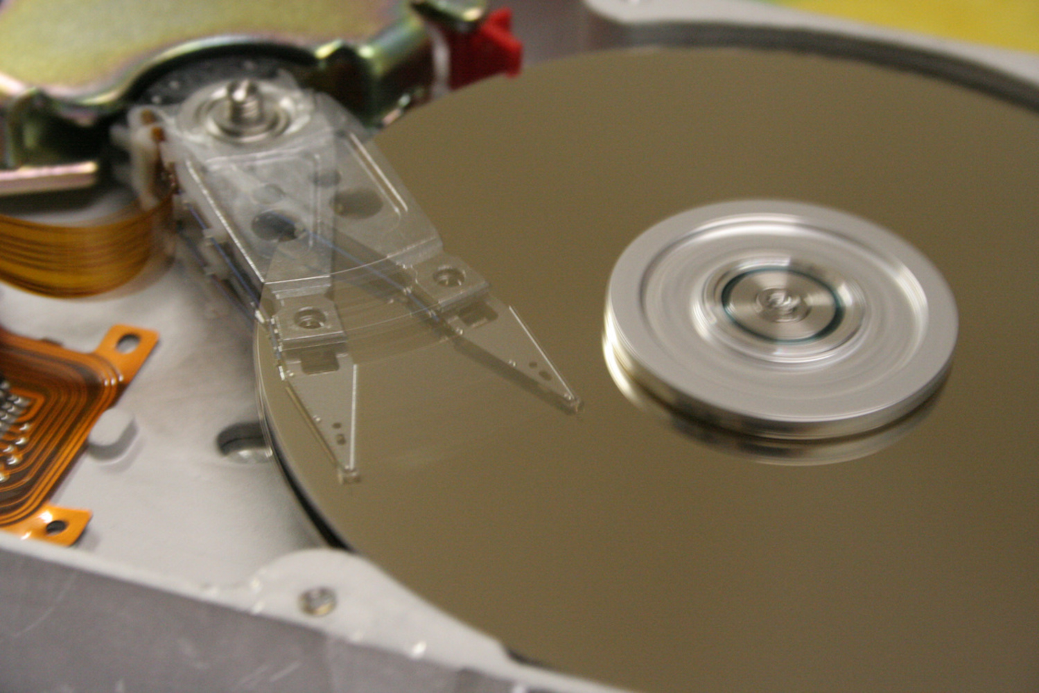 Hard disk drives are common storage devices used with computers.