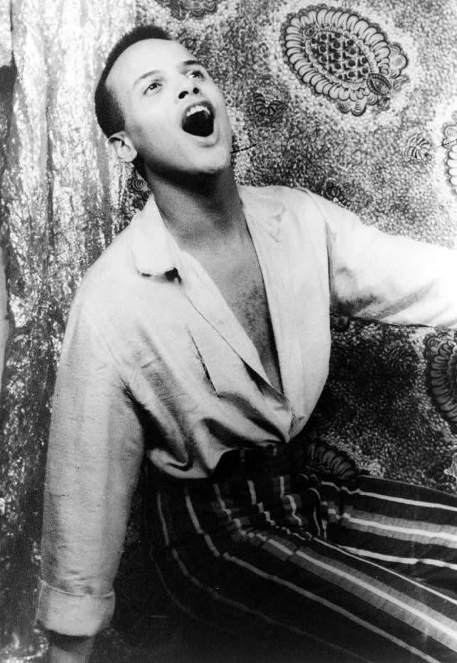 Harry Belafonte Singing, 1954. From the Library of Congress, Prints and Photographs Division, Van Vechten Collection.
