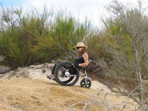 Trekinetic All-terrain wheelchair in use