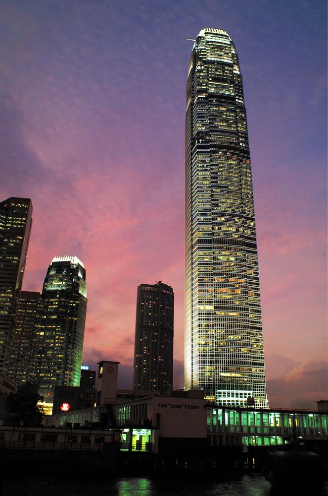 International Finance Centre (IFC). A prominent landmark on Hong Kong Island and until recently Hong Kong's tallest building.