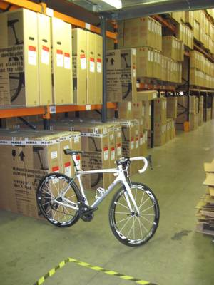 TREK Madone bike in the warehouse