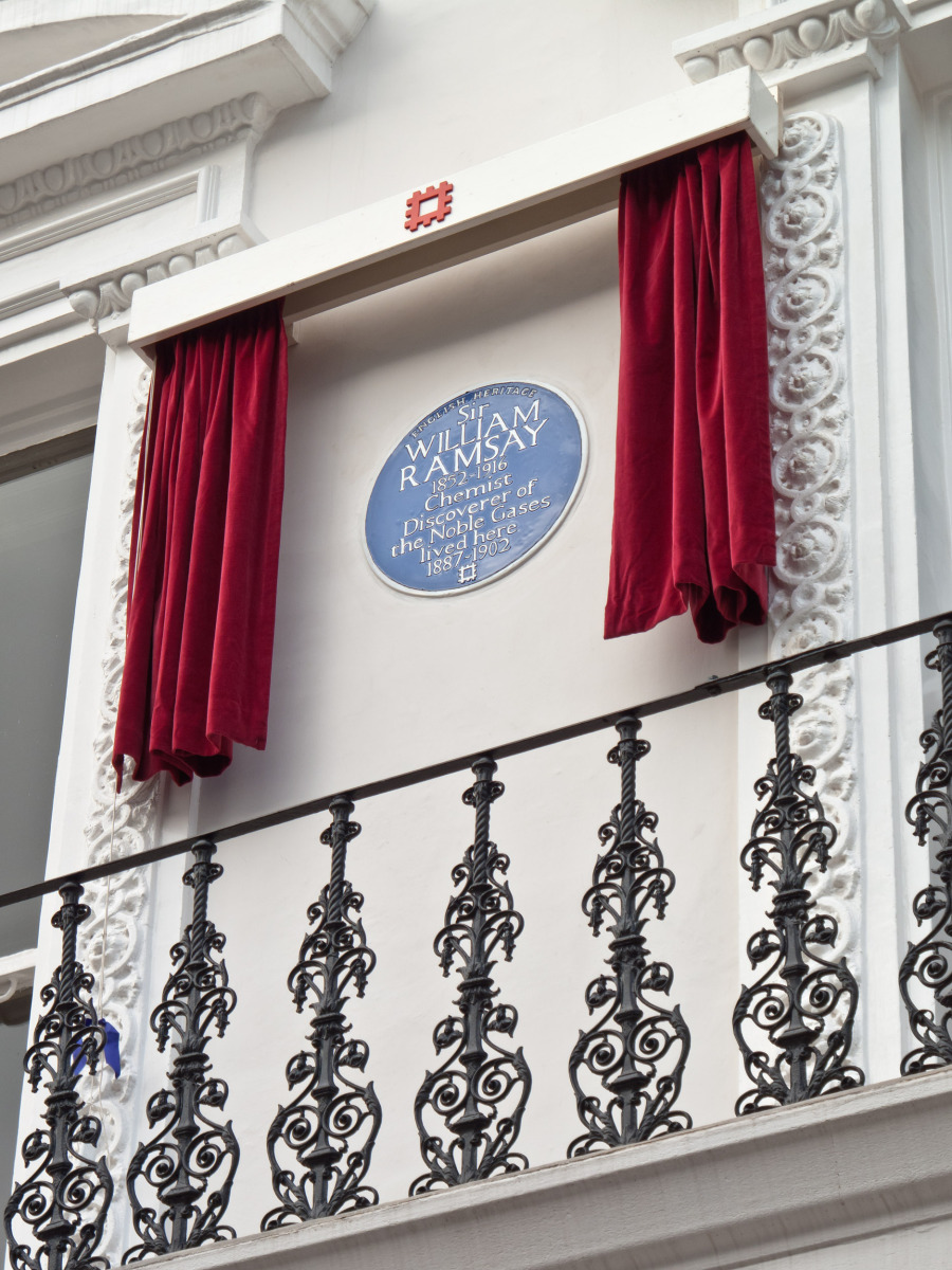 William Ramsay's Blue Plaque