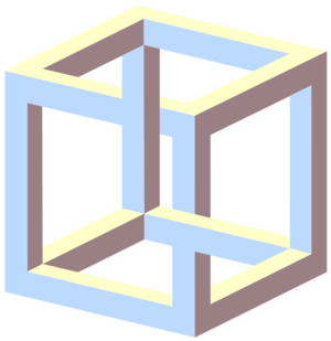 Impossible cube illusion angle