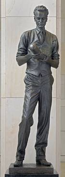 Philo Farnsworth, sculpted by James R. Avati, 1990. Given by Utah to the National Statuary Hall Collection