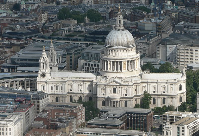 An aerial view of St Paul