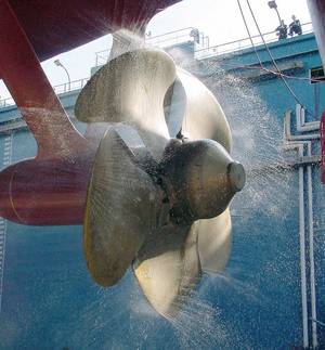 Propeller of the USS Winston S. Churchill