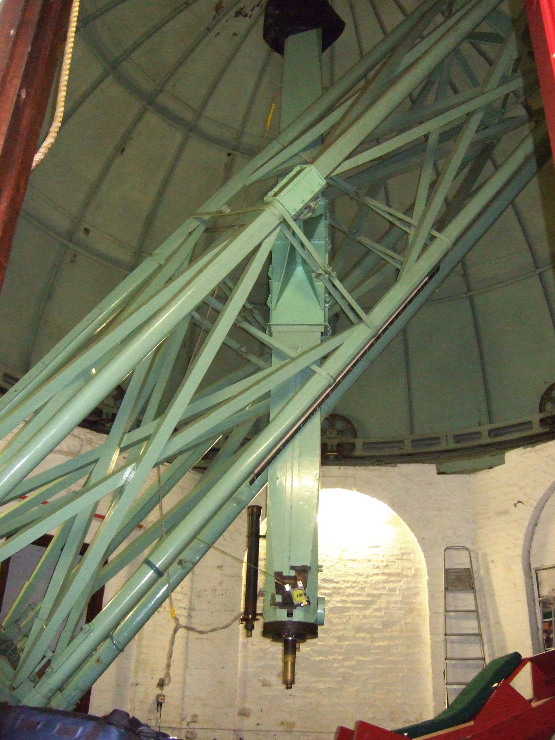 The 12 inch refracting telescope paid for by the Duke of Northumberland in 1833. It was the first telescope to see Neptune, however it didn't actually prove it was there first so didn't get the credit.