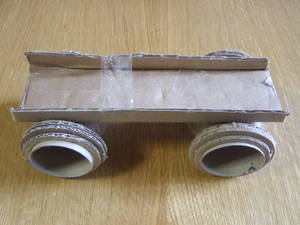 Car with a large axle