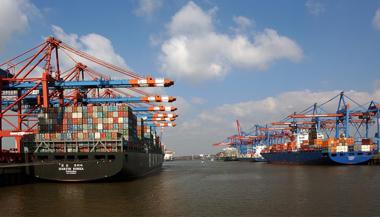 Container ships, Hamburg