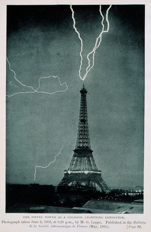 Lightning Hitting the Eiffel Tower