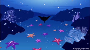 Christmas manta ray animation still by Jo and Joe cards