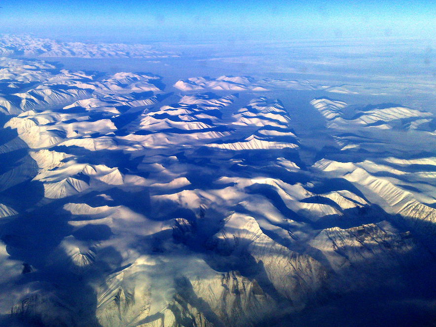 Mountains from a plane