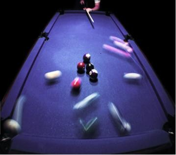 A solar cell is a little bit like a pool table